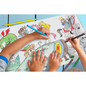 Self-Stick Colouring Book & Roll | Fairyland Adventures | Kids Colouring Sheet | BeoVERDE.ie
