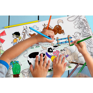 Self-Stick Colouring Book & Roll | Farm Life Adventures | Kids Colouring Sheet | BeoVERDE.ie