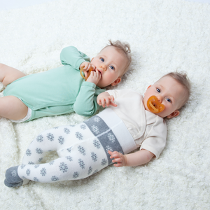 Grunspecht Organic Rubber Orthodontic Teat Soother | Lifestyle Two Teething Ring | BeoVERDE.ie