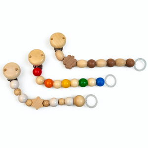 Grunspecht Natural Wooden Dummy Clip 'Rainbow' | Style Samples Horizontal | BeoVERDE.ie