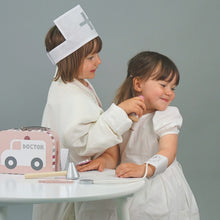 Load image into Gallery viewer, JaBaDaBaDo Doctor's Case Pink | Wooden Pretend Play Toy | Lifestyle – 2 Girls Playing Syringe | BeoVERDE.ie