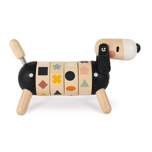 Janod Sweet Cocoon Shapes And Colours Dog | Scandi Style Wooden Toy | Right Side Mixed | BeoVERDE.ie