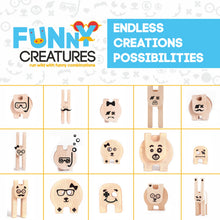 Load image into Gallery viewer, Kipod Toys Funny Creatures | Creative Wooden Toy Play Set | Wooden Assembly Puzzle & Game | Figure Samples | BeoVERDE.ie