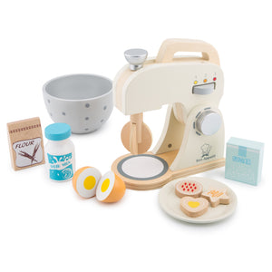 New Classic Wooden Mixer Set | Pretend Play Kitchen Toys | Right Side View | BeoVERDE.ie
