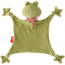 Load image into Gallery viewer, Sigikid Organic Frog Comforter | Baby's First Toy | Back | BeoVERDE.ie