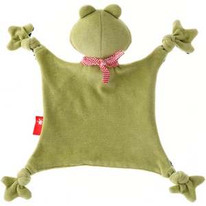 Sigikid Organic Frog Comforter | Baby's First Toy | Back | BeoVERDE.ie