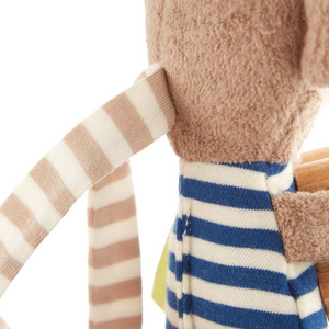 Sigikid Organic Monkey Rattle and Teether | Closeup Back | BeoVERDE.ie