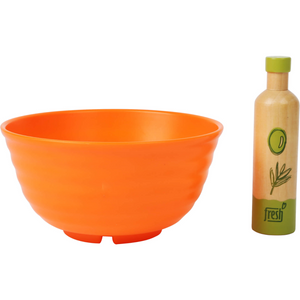Small Foot Salad Play Set | Gorgeous Pretend Play Toys | Bowl & Bottle of Olive Oil | BeoVERDE.ie