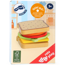 Load image into Gallery viewer, Small Foot Sandwich Set | Hand-Crafted Wooden Pretend Play Toys | Packaging | BeoVERDE.ie