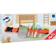 Load image into Gallery viewer, Small Foot Tool Belt | Wooden Pretend Play Toys | Packaging | BeoVERDE.ie