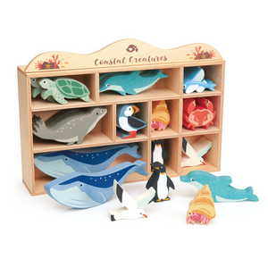 Tender Leaf Coastal Animals | Hand-Crafted Wooden Animal | Costal Animal Display | BeoVERDE.ie