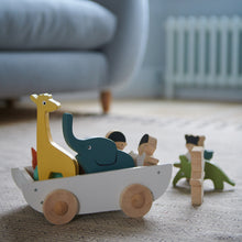 Load image into Gallery viewer, TenderLeaf 'The Friend Ship' Side View | Hand-Crafted Wooden Animal Toys | BeoVERDE.ie