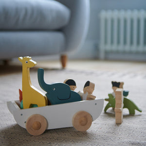 TenderLeaf 'The Friend Ship' Side View | Hand-Crafted Wooden Animal Toys | BeoVERDE.ie