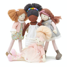 Load image into Gallery viewer, ThreadBear Design Amelie Ballerina Rag Doll | Soft Cotton Children's Doll | Hand-Crafted Rag Doll | Front View – Rag Doll Alma and her friends | BeoVERDE.ie