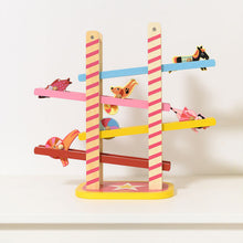 Load image into Gallery viewer, Vilac Acrobat's Cascade designed by Ingela P.Arrhenius | Wooden Toddler Activity Toy | Lifestyle - Side View  - Figures Rolling | BeoVERDE.ie