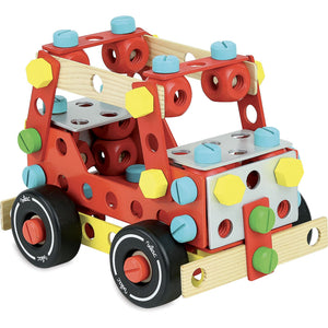 Vilac Wooden Construction Building Set 'Super Batibloc' | Educational Wooden Toy | SUV | BeoVERDE.ie
