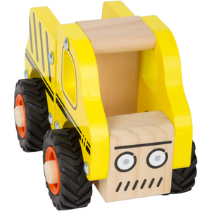 Small Foot Wooden Construction Site Vehicle | Front Top View | BeoVERDE.ie