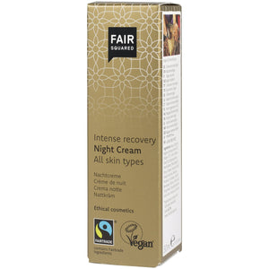 FAIR SQUARED Intense Recovery Night Cream | Fairtrade Vegan Natural Halal | Box | BeoVERDE.ie