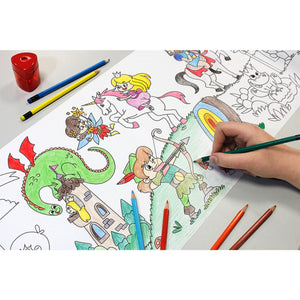 Self-Stick Colouring Book & Roll | Fairyland Adventures | Child Colouring Sheet | BeoVERDE.ie