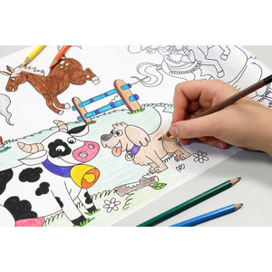 Self-Stick Colouring Book & Roll | Farm Life Adventures | Child Colouring Sheet | BeoVERDE.ie