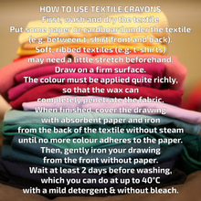 Load image into Gallery viewer, Non-Toxic Natural Textile Wax Crayons | 15 Vibrant Colours | How to Use | BeoVERDE.ie