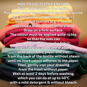 Non-Toxic Natural Textile Wax Crayons | 15 Vibrant Colours | How to Use | BeoVERDE.ie