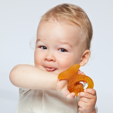 Load image into Gallery viewer, Grunspecht Organic Rubber Baby Teether 'Fish' | Lifestyle Two Teething Ring | BeoVERDE.ie