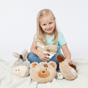 Natural Warming Pillow for Children | My Little Warming Friend 'Dog' | Cherry Stone Filling | Made in Germany
