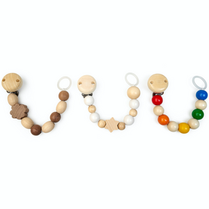 Grunspecht Natural Wooden Dummy Clip 'Rainbow' | Style Samples U-Shape | BeoVERDE.ie