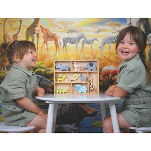 Animals | Wooden Imaginative Play Toy | Lifestyle – 2 Girls Playing | BeoVERDE.ie