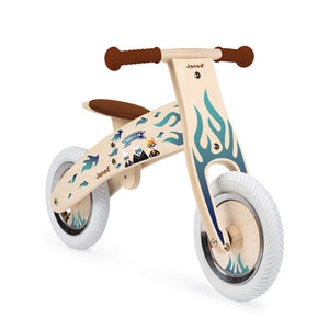 Janod Nature Balance Bike | Activity Wooden Toy| Bikes & Scooters | Balance Bike Decorated with Animal Stickers | BeoVERDE.ie
