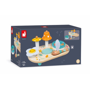 Janod Pure Musical Table | Wooden Toddler Activity Toy | Packaging | BeoVERDE.ie