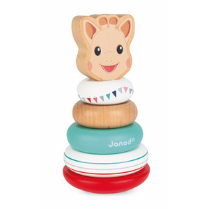 Sophie la girafe Stackable Roly-Poly | Wooden Toddler Activity Toy | Right Side | BeoVERDE.ie