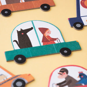 Londji BEEP BEEP! Jigsaw Puzzle | Designed by Txell Darne Jigsaw Puzzle and Game | Perfect Jigsaw Puzzle for Kids 3 Years and Older | Front View – Closeup Car | BeoVERDE.ie