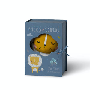 Picca LouLou Lion in Gift Box | Imaginative Play Toy | Hand-Crafted Soft Toy Made From Cotton | Lion in Box | BeoVERDE.ie