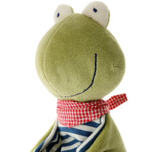 Sigikid Organic Frog Comforter | Baby's First Toy | Closeup Face | BeoVERDE.ie