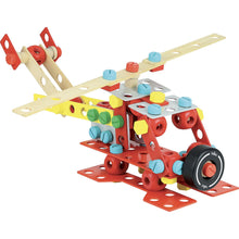 Load image into Gallery viewer, Vilac Wooden Construction Building Set 'Super Batibloc' | Educational Wooden Toy | Helicopter | BeoVERDE.ie