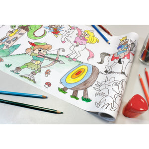 Self-Stick Colouring Book & Roll | Fairyland Adventures | Partially Coloured Sheet | BeoVERDE.ie