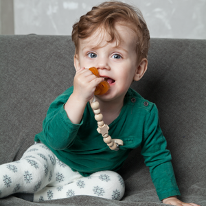 Grunspecht Organic Rubber Orthodontic Teat Soother | Lifestyle Four Teething Ring | BeoVERDE.ie
