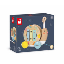 Load image into Gallery viewer, Janod Pure Pull-Along Snail | Wooden Toddler Activity Toy | Packaging | BeoVERDE.ie