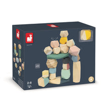 Load image into Gallery viewer, Janod Sweet Cocoon Stacking Stones | Scandi Style Wooden Toy | Packaging | BeoVERDE.ie