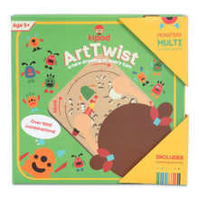 Load image into Gallery viewer, Monsters - Rotating Wooden Drawing Stencil Kit for Children | Kipod Toys | Wooden Arts & Crafts Kit | Educational Wooden Toy | Packaging Front | BeoVERDE.ie