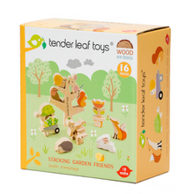 Load image into Gallery viewer, Tender Leaf Stacking Garden Friends Set | Hand-Crafted Wooden Animal Toys | Packaging |BeoVERDE.ie