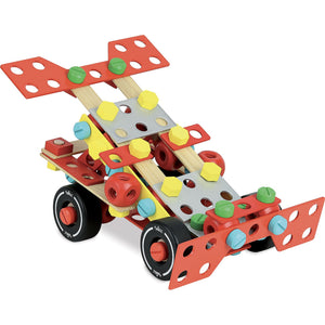 Vilac Wooden Construction Building Set 'Super Batibloc' | Educational Wooden Toy | Race Car | BeoVERDE.ie