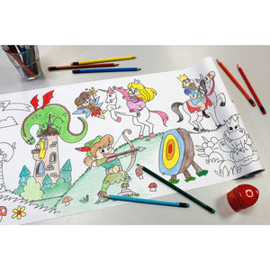 Self-Stick Colouring Book & Roll | Fairyland Adventures | Mostly Coloured Sheet | BeoVERDE.ie