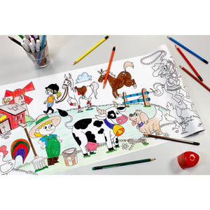 Self-Stick Colouring Book & Roll | Farm Life Adventures | Mostly Coloured Sheet | BeoVERDE.ie