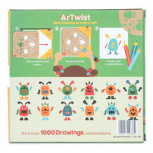 Load image into Gallery viewer, Monsters - Rotating Wooden Drawing Stencil Kit for Children | Kipod Toys | Wooden Arts & Crafts Kit | Educational Wooden Toy | Packaging Back | BeoVERDE.ie