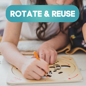 Space | Rotating Wooden Drawing Stencil Kit for Children | Wooden Arts & Crafts Kit