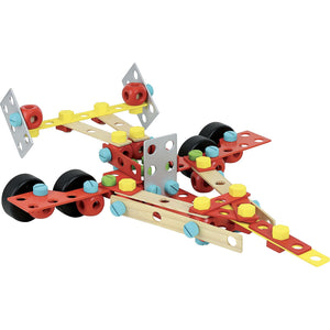Vilac Wooden Construction Building Set 'Super Batibloc' | Educational Wooden Toy | Fighterjet | BeoVERDE.ie