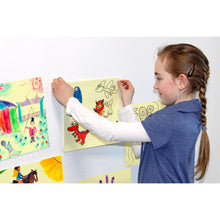 Load image into Gallery viewer, Giant Square Sticky-Note | Girl Sticks Sticky-Note on Wall | BeoVERDE.ie